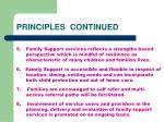 principles continued