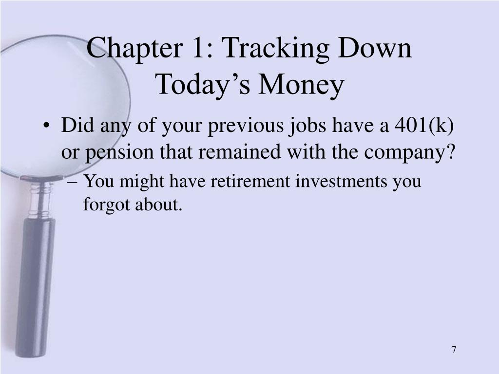 Chapter 1: Tracking Down Today's Money