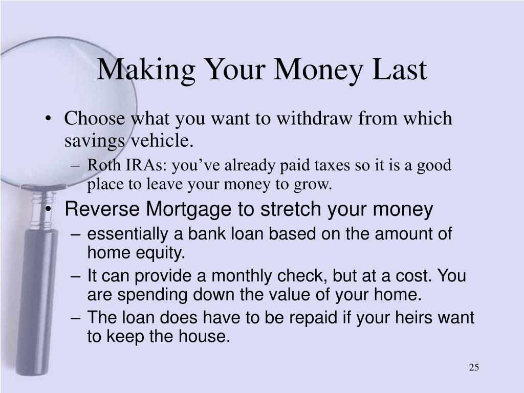 Making Your Money Last