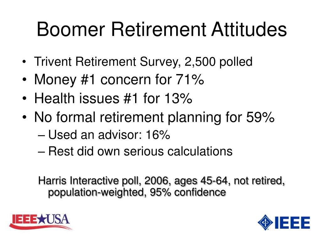 Boomer Retirement Attitudes