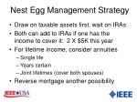 nest egg management strategy