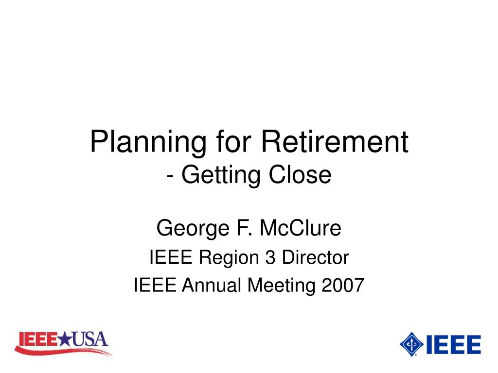 planning for retirement getting close l.
