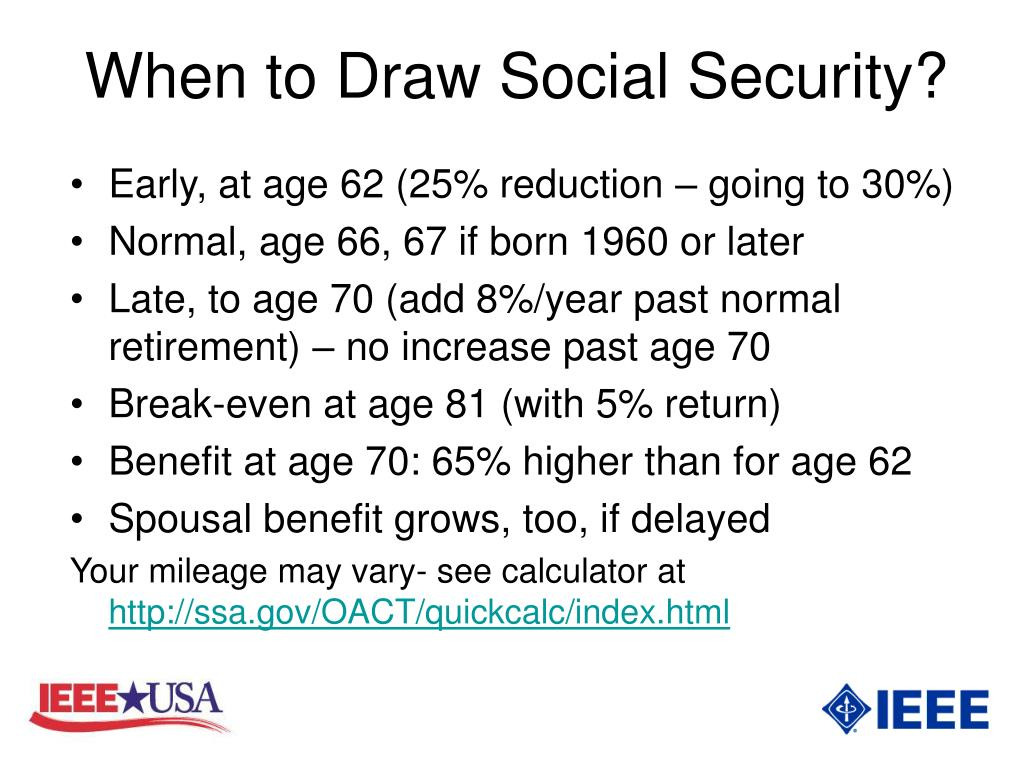 When to Draw Social Security?