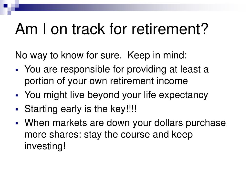 Am I on track for retirement?