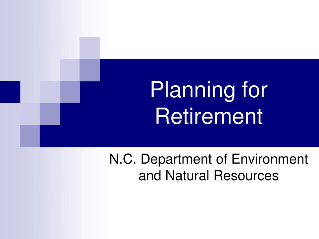 planning for retirement l.
