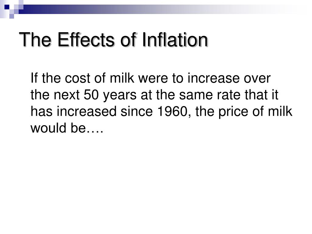 The Effects of Inflation