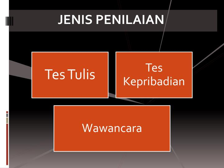JENIS PENILAIAN