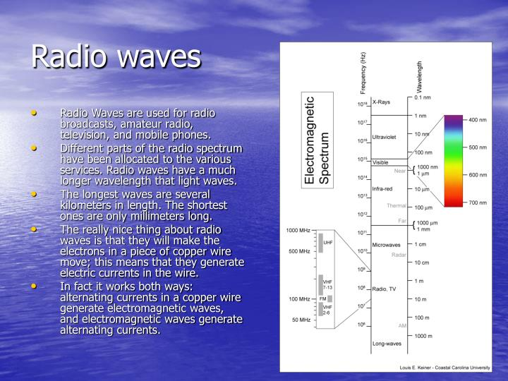 Radio Waves are used for radio broadcasts, amateur radio, television, and mobile phones.