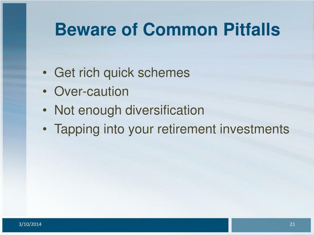 Beware of Common Pitfalls