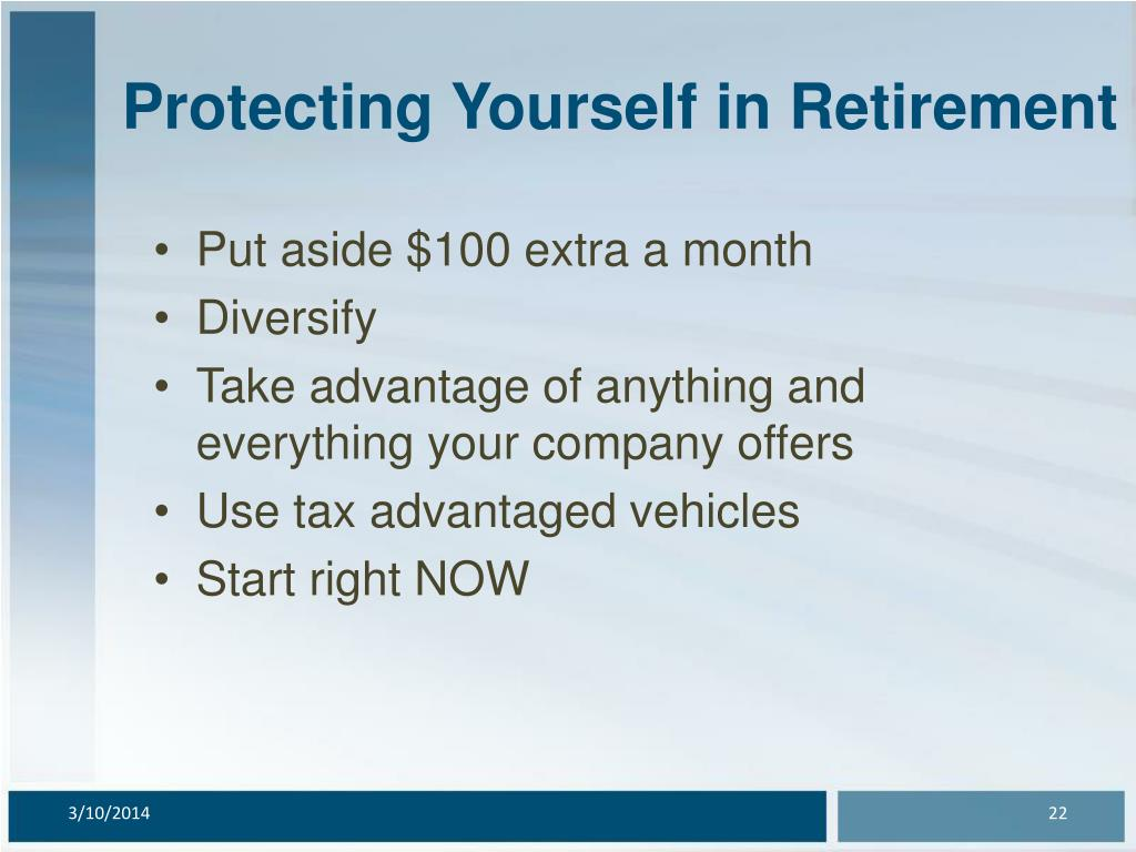 Protecting Yourself in Retirement