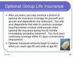 optional group life insurance