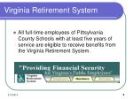 virginia retirement system