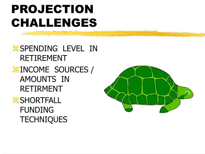 Retirement projection challenges