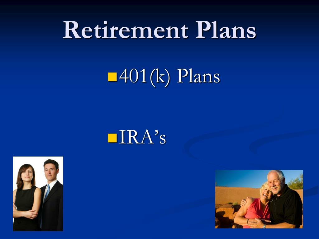 retirement plans l.