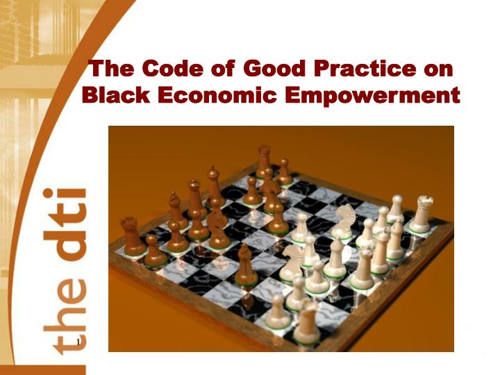 The Code of Good Practice on