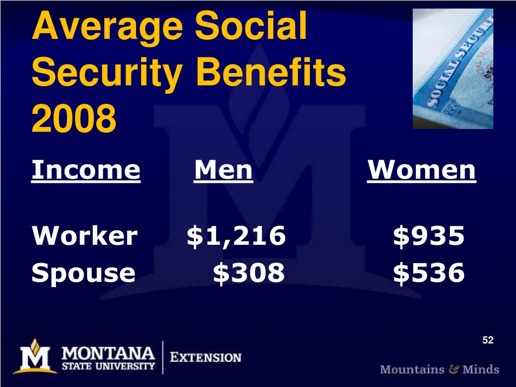 Average Social       Security Benefits         2008