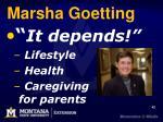 marsha goetting