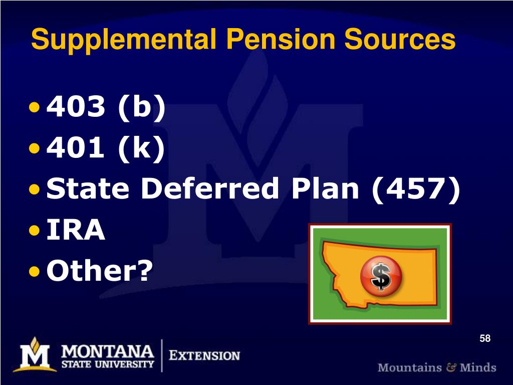 Supplemental Pension Sources