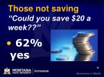 those not saving could you save 20 a week