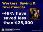 workers saving investments