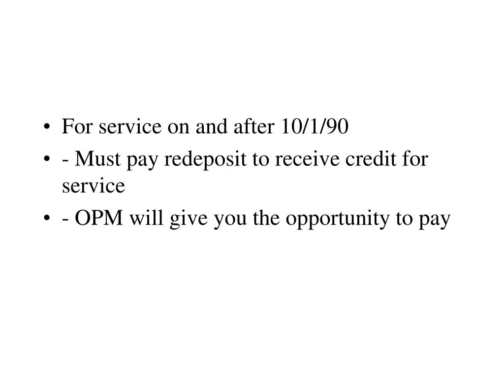 For service on and after 10/1/90