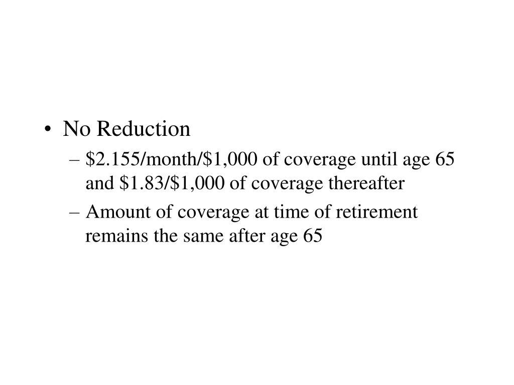 No Reduction