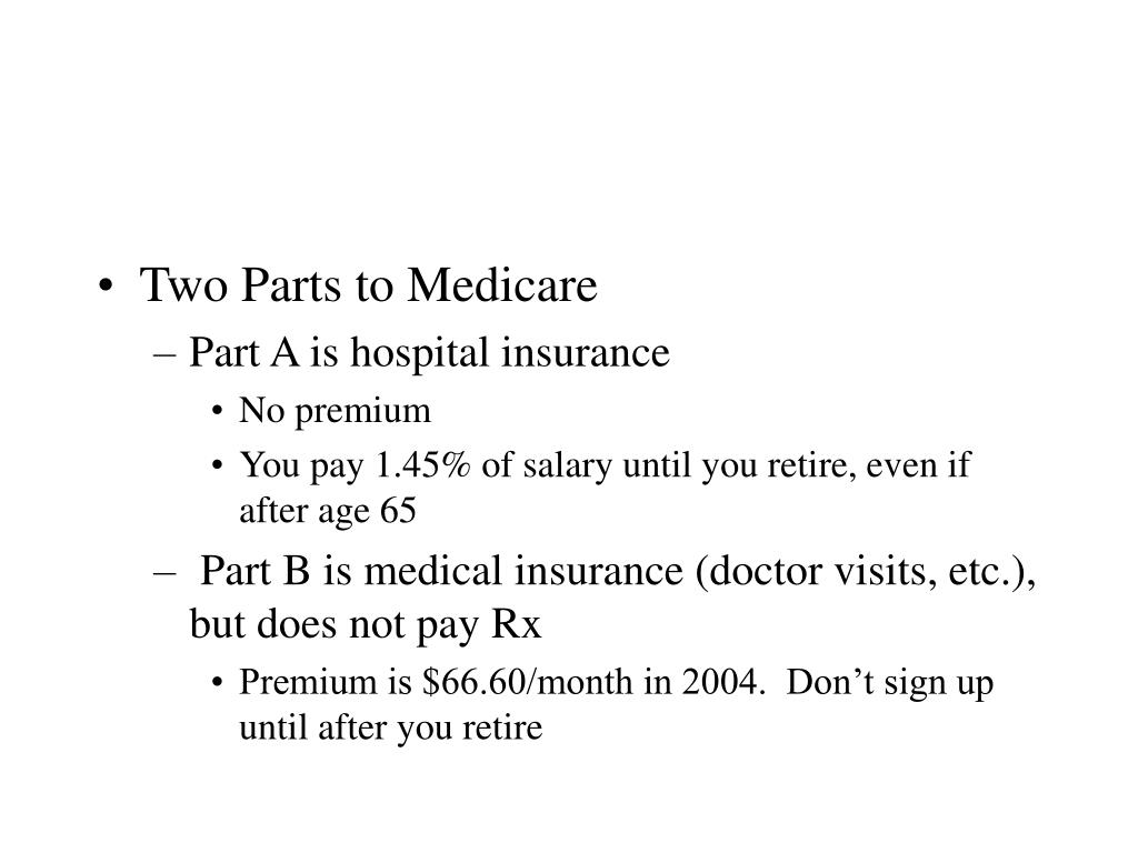 Two Parts to Medicare