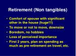 retirement non tangibles