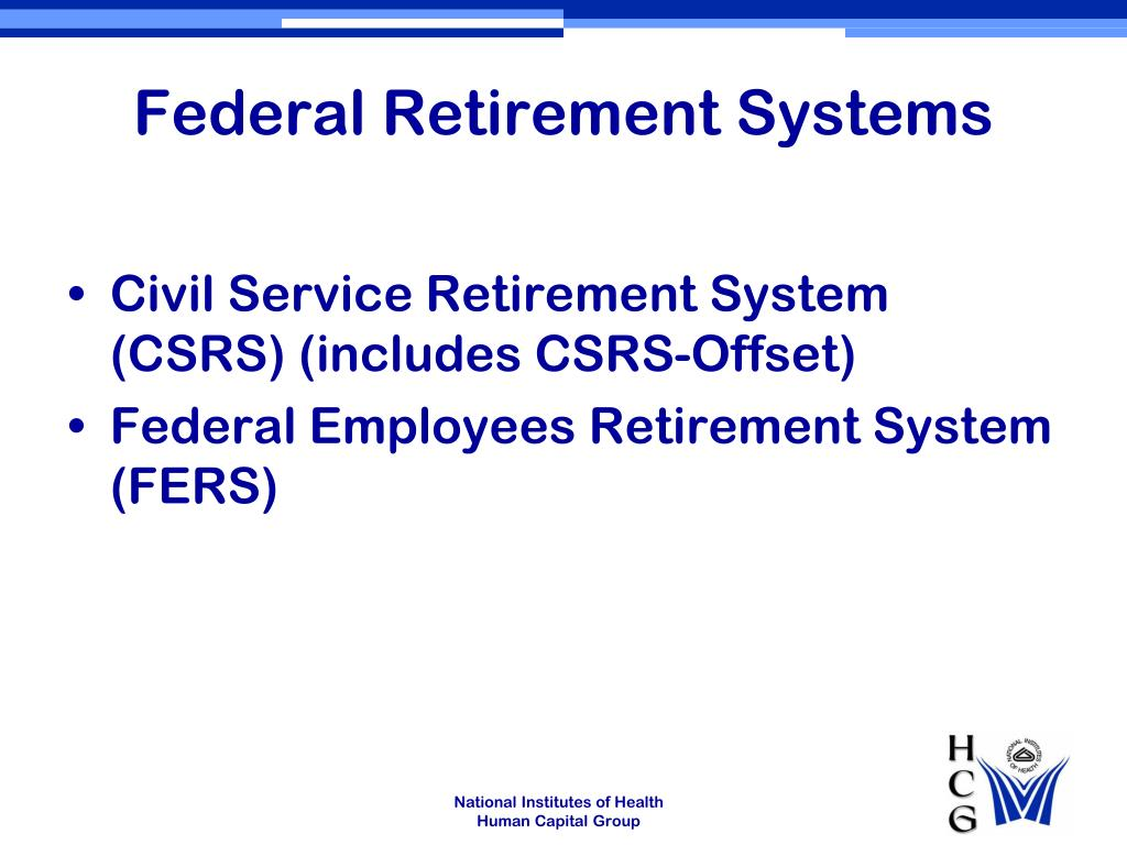 Federal Retirement Systems