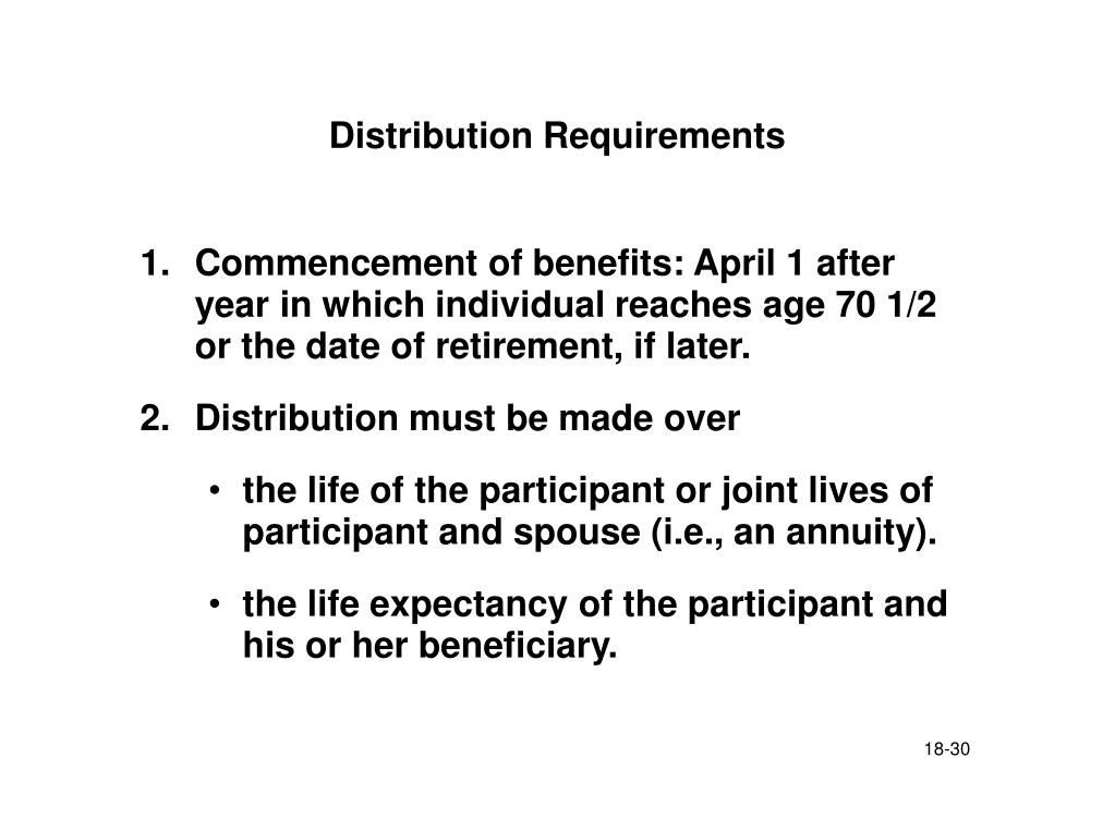 Distribution Requirements