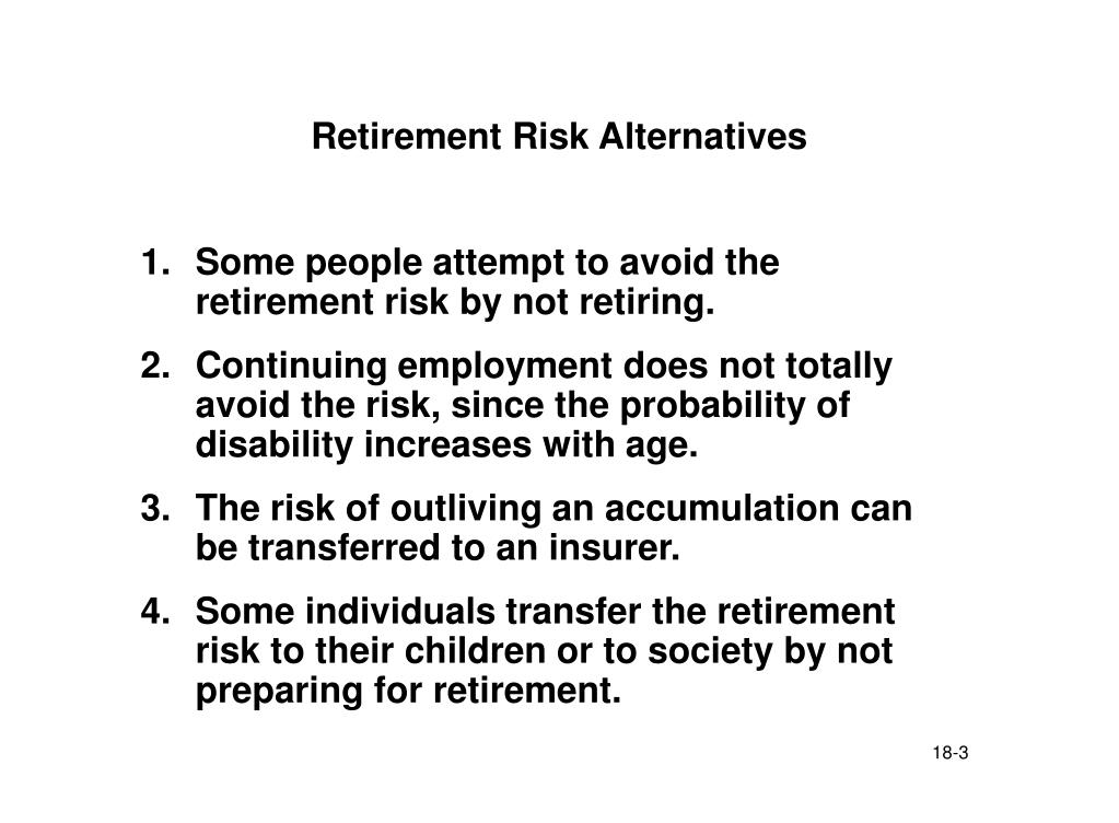 Retirement Risk Alternatives