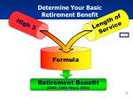 determine your basic retirement benefit
