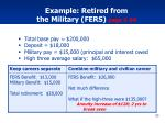 example retired from the military fers page 1 54