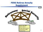 fers retiree annuity supplement