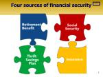 four sources of financial security