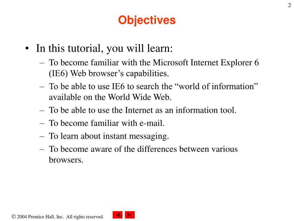 PPT - Chapter 2 - Microsoft Internet Explorer 6 PowerPoint