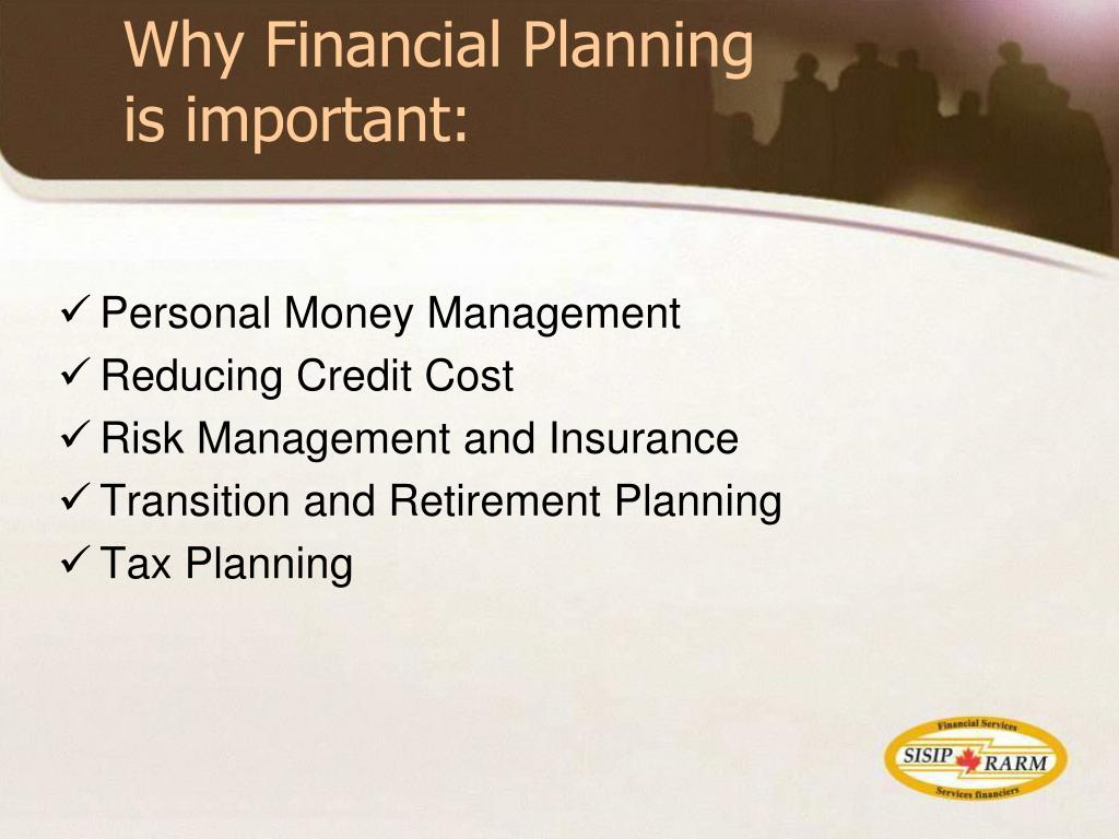 Why Financial Planning