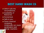 best hand wash is