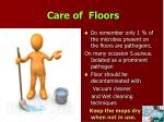 care of floors