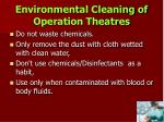environmental cleaning of operation theatres