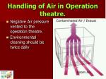 handling of air in operation theatre