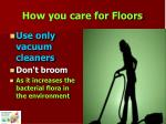 how you care for floors