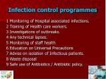 infection control programmes