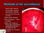 methods of air surveillance