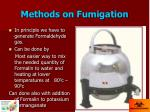 methods on fumigation