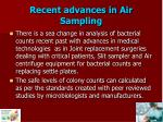 recent advances in air sampling