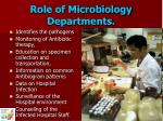 role of microbiology departments