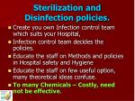 sterilization and disinfection policies