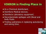 vikron is finding place in