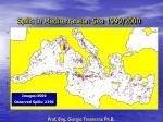 spills in mediterranean sea 1999 2000